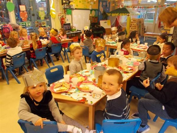 We enjoyed our party lunch.