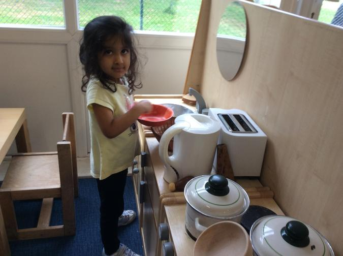 Using imagination in role play. Necessary for writing later on.