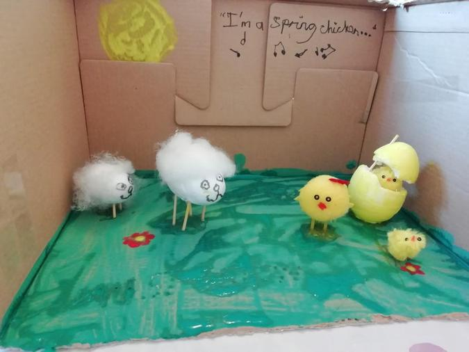 Daisy's decorated eggs 'Spring Chickens'