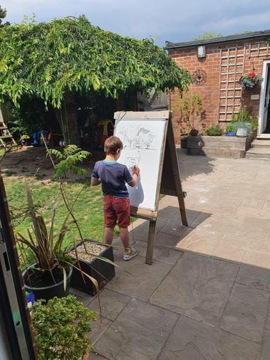 Thomas the artist!