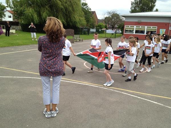 Marching to the Kenyan National Anthem!