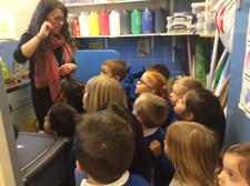 The children helped to wash some clothes, then thought about the best places to put them to dry. We found out that the radiator was a good place, but that the tumble drier was even better! Can your child tell you why this was? 7