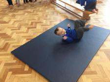 We explored different ways of moving around the apparatus. 1