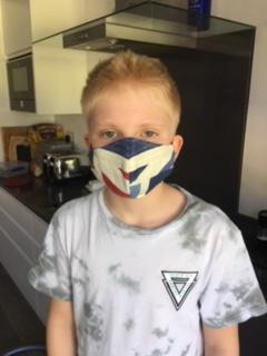 Zak making a mask to look more like a ninja!.jpg