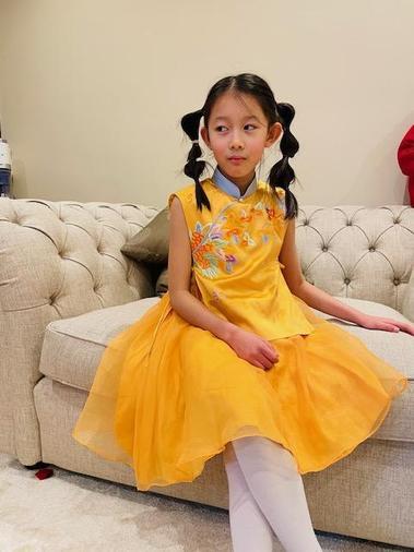 Ella's lovely Chinese dress