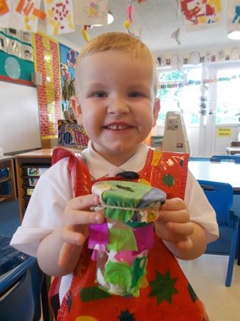 Making money boxes to save our pennies