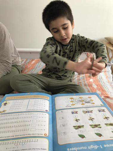 Saad doing extra maths