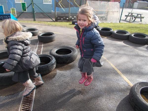 We had great fun splashing in the puddles.