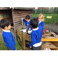 Exploration in mud kitchen