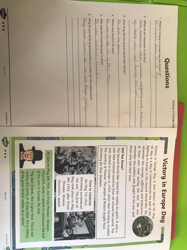 Fatimah's V.E comprehension work