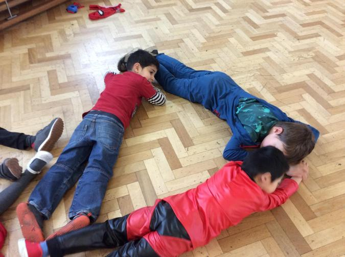 Making shapes with our whole body