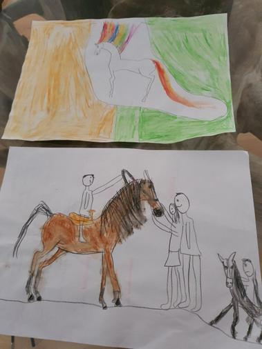Ishaq's amazing drawings of horses