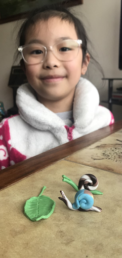 Caitlan made some super snail models