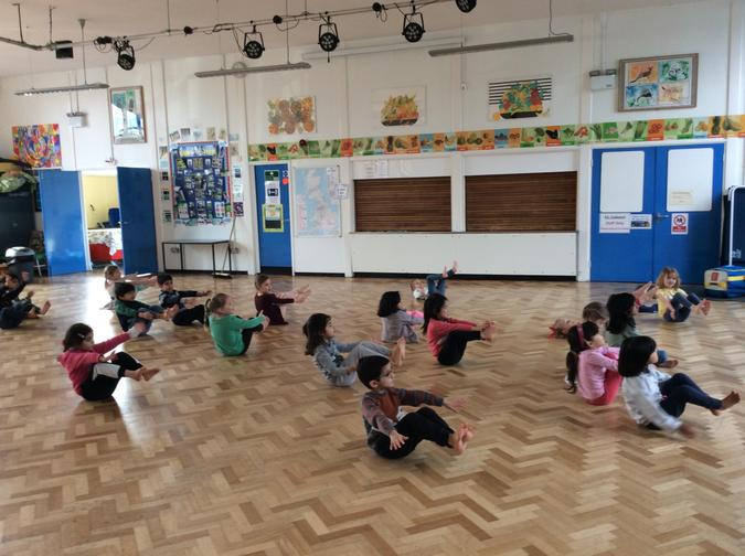 We practised our wellbeing yoga.