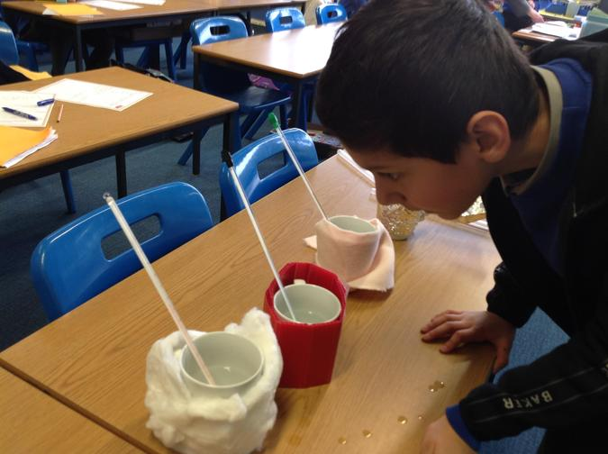 Ummar checked the cup wrapped in cotton wool