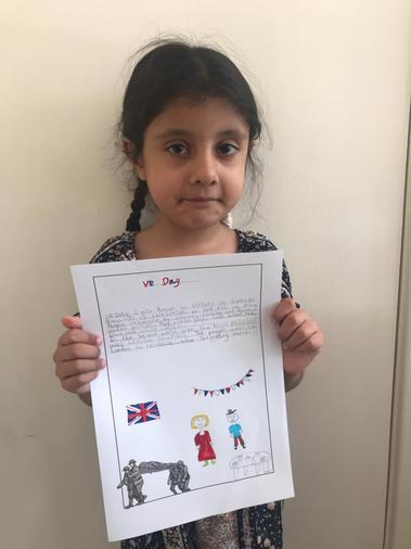 Fatimah's written work on V.E Day