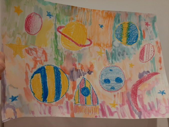 Amber's space painting