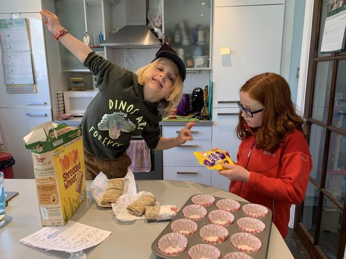Arlo busy baking