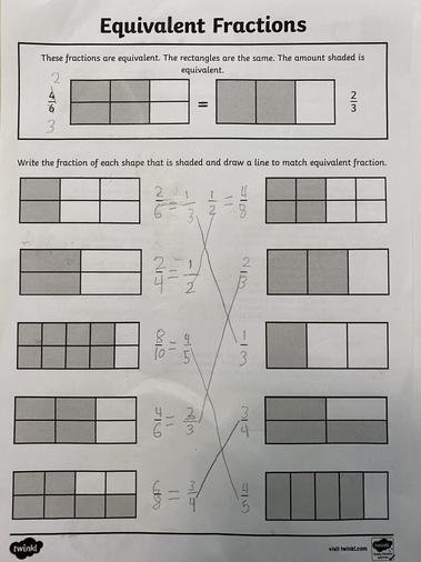 Aisha's fraction work