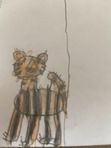 Work based on 'The Tiger Who Came To Tea' - Judith Kerr