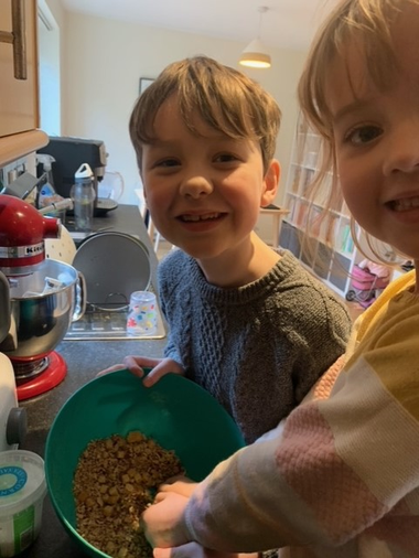 Noah and his sister have been busy baking again
