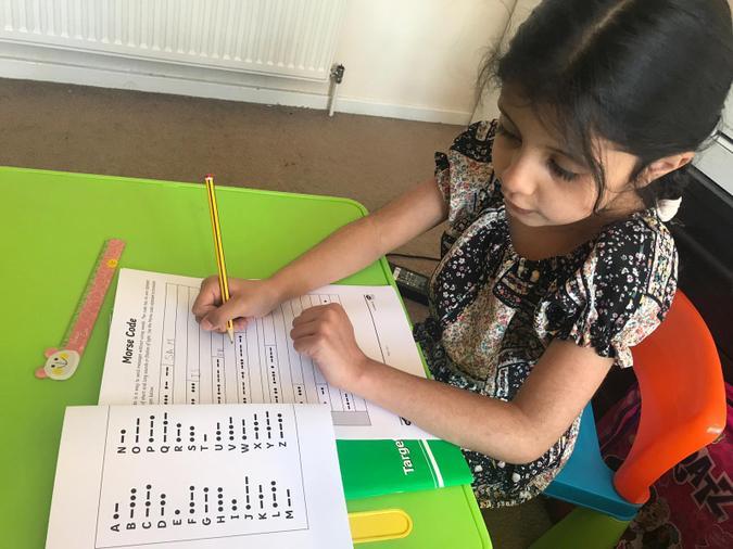 Fatimah cracking morse code