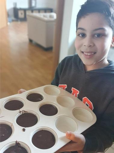 Ishaq's been baking - delicious!
