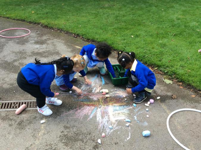 Child initiated mark making