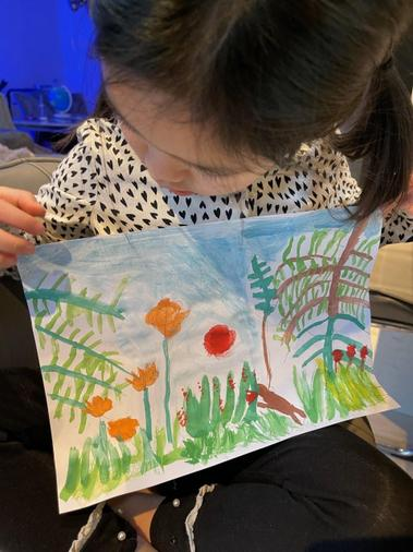 Renee's work inspired by Rousseau
