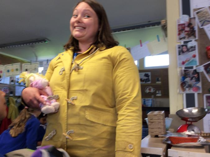 People who help us in school:Mrs Berry.