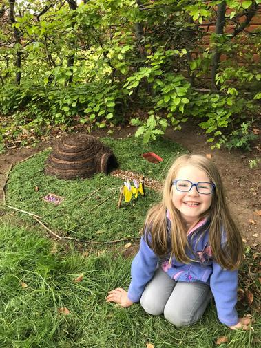 Abbie caring for hedgehogs