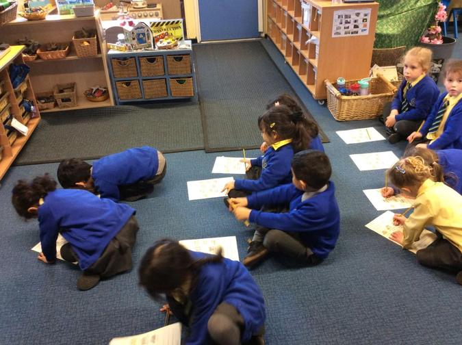 Ticking them off on our observation sheets