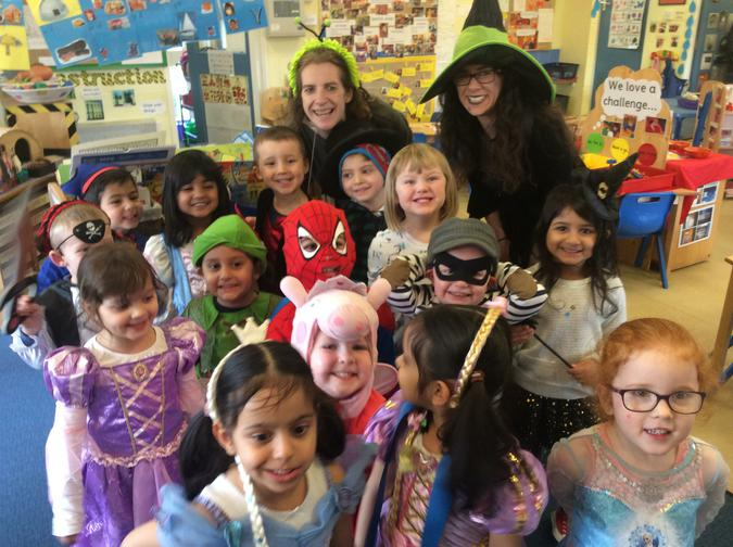 We had great fun on our Book Day, just look at all the fabulous costumes! A big thank you to all our parents and careers for their support in making the children look so wonderful! 1