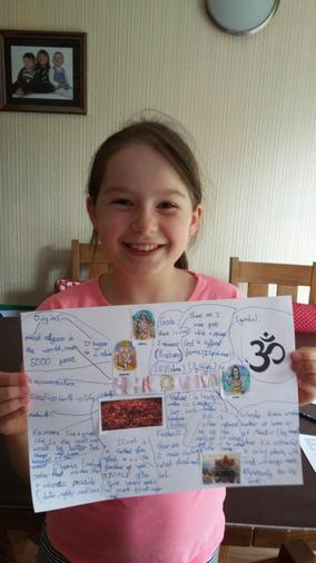 Annabel's amazing Hinduism poster!