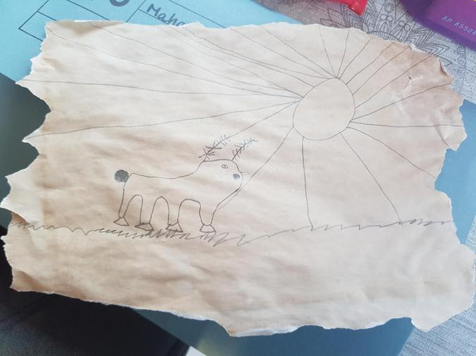 making 'aged' paper using tea