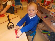 Dough is great for practising fine motor skills. 1