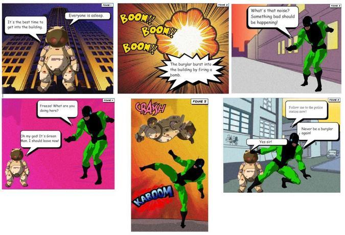 Trinton's amazing comic strip