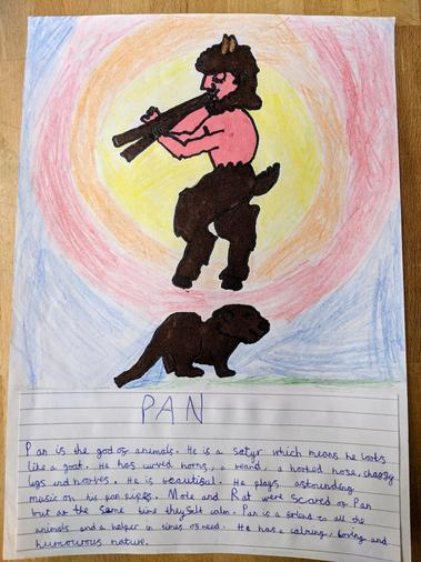 Arla's character description of Pan
