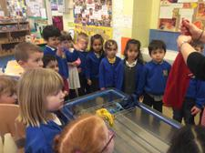 The children helped to wash some clothes, then thought about the best places to put them to dry. We found out that the radiator was a good place, but that the tumble drier was even better! Can your child tell you why this was? 1