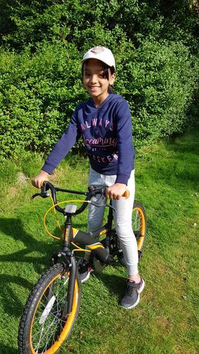 Sara enjoying a bike ride
