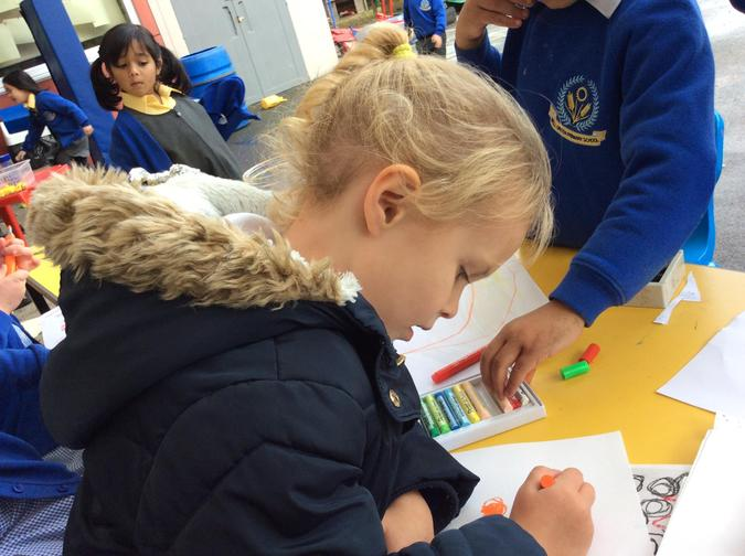 The children will be adding colour washes next week.