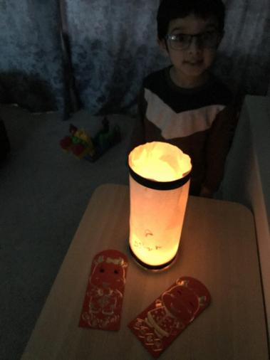 Dylan completed the lantern using the instructions. Good listening skills Dylan!