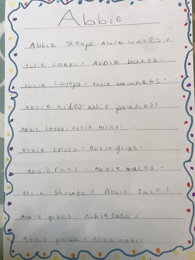 Abbie's brilliant poem