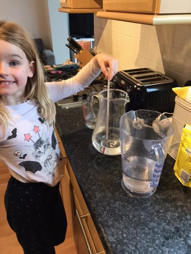 Holly measuring different temperatures