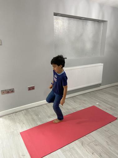 Malik keeping fit - well done!