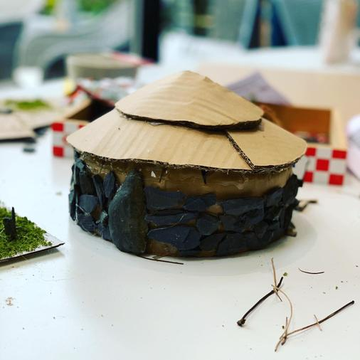 Sophie's Stone Age house - fantastic!