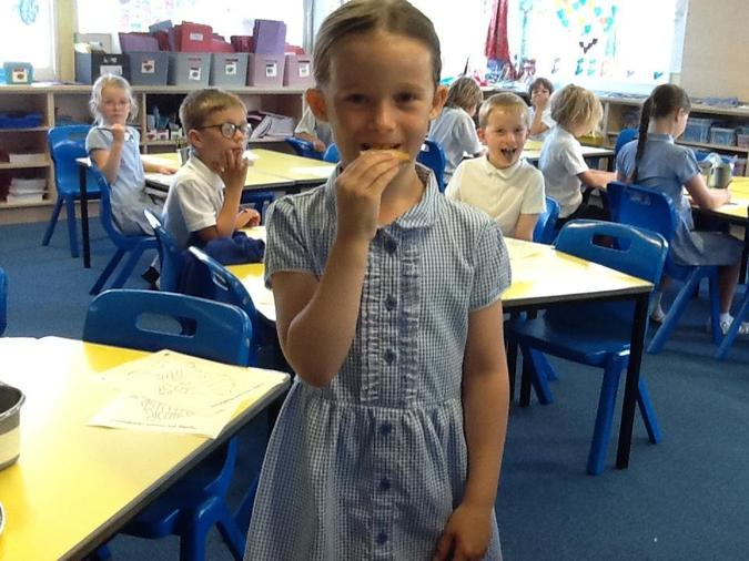 Amelie (and the rest of us) ate her homework!!
