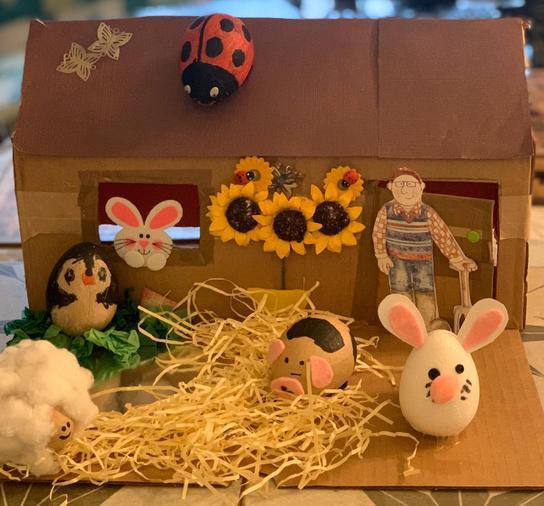 Josh's Eggxellent Easter egg design!