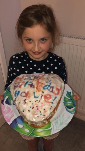 Hollie's delicious birthday cake!