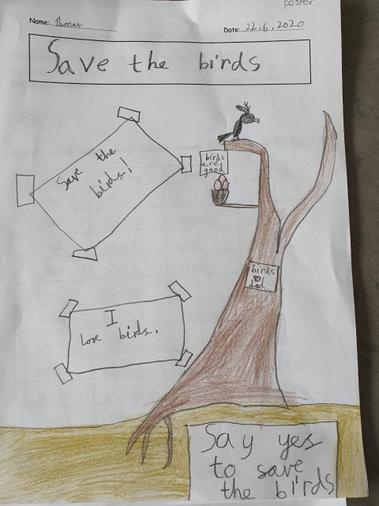 A lovely 'Save the Tree' poster